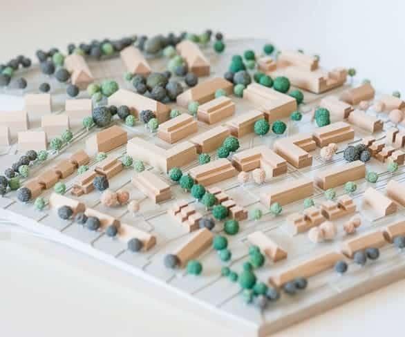 Miniaturmodel einer Bauleitplanung von ISR Haan