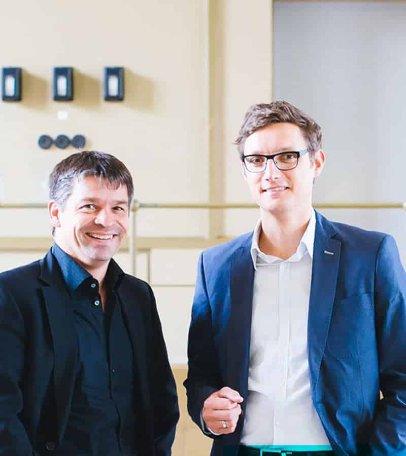 Jochen Füge und Franz Leinfelder, Gründer der ISR