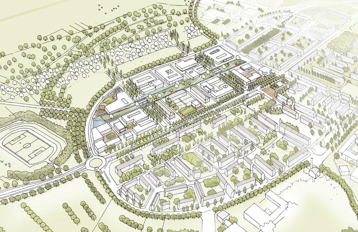 Skizze einer Stadtraumplanung von ISR Haan